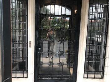 Kristen Oliver reflected in doorway
