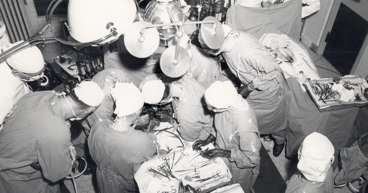 Image of heart surgery