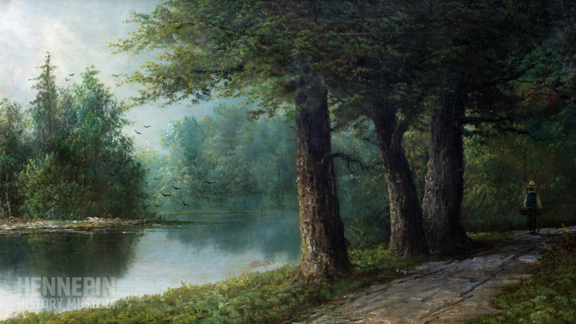 Painting of Lake of the Isles