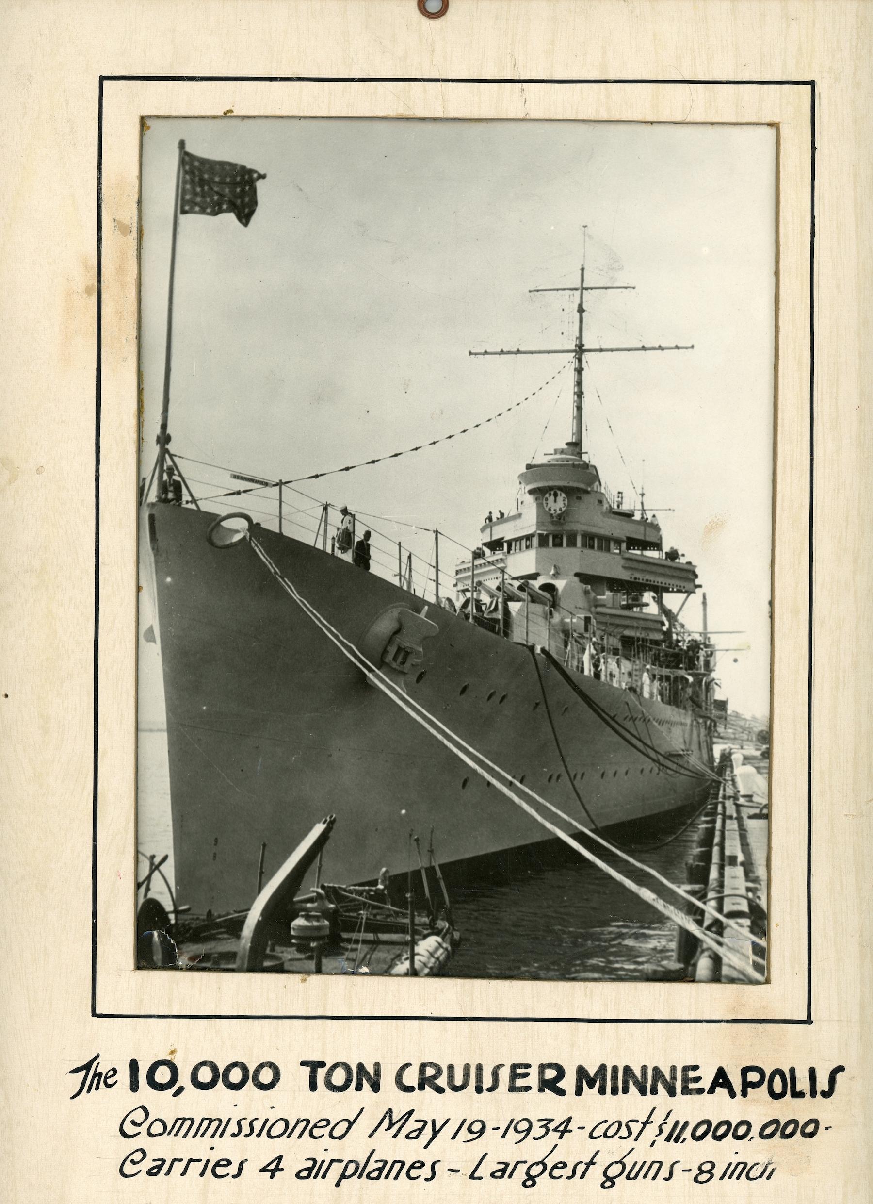 Image of ship the U. S. S. Minneapolis.