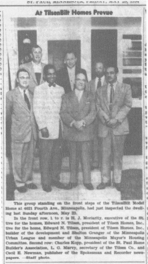 Group of Black and white men standing in front of TilsenBilt home