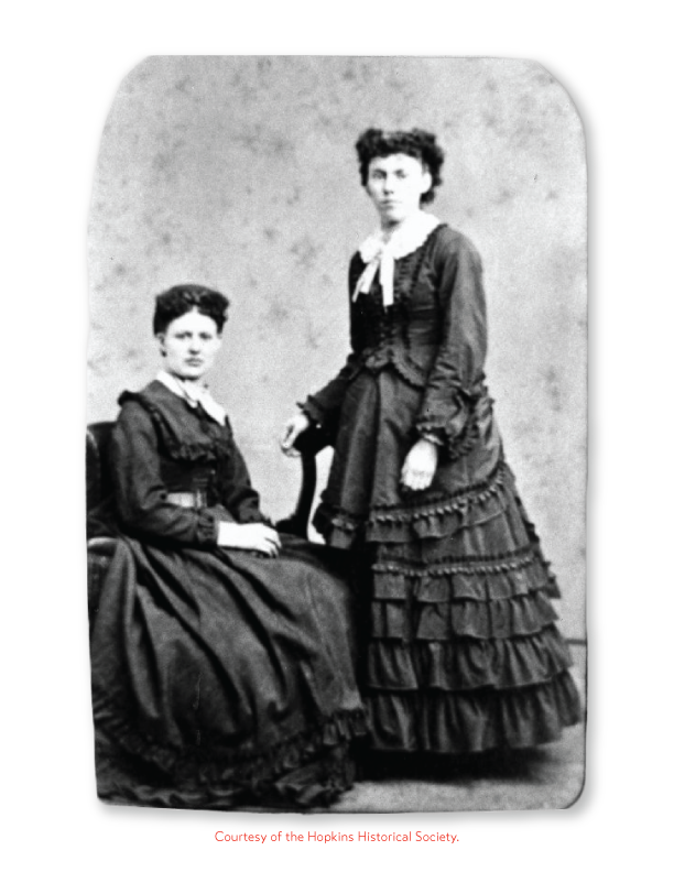 Image of Dr. Catherine Burnes and her sister.