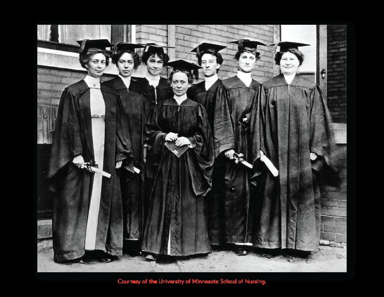 Image of Graduating Nurses.