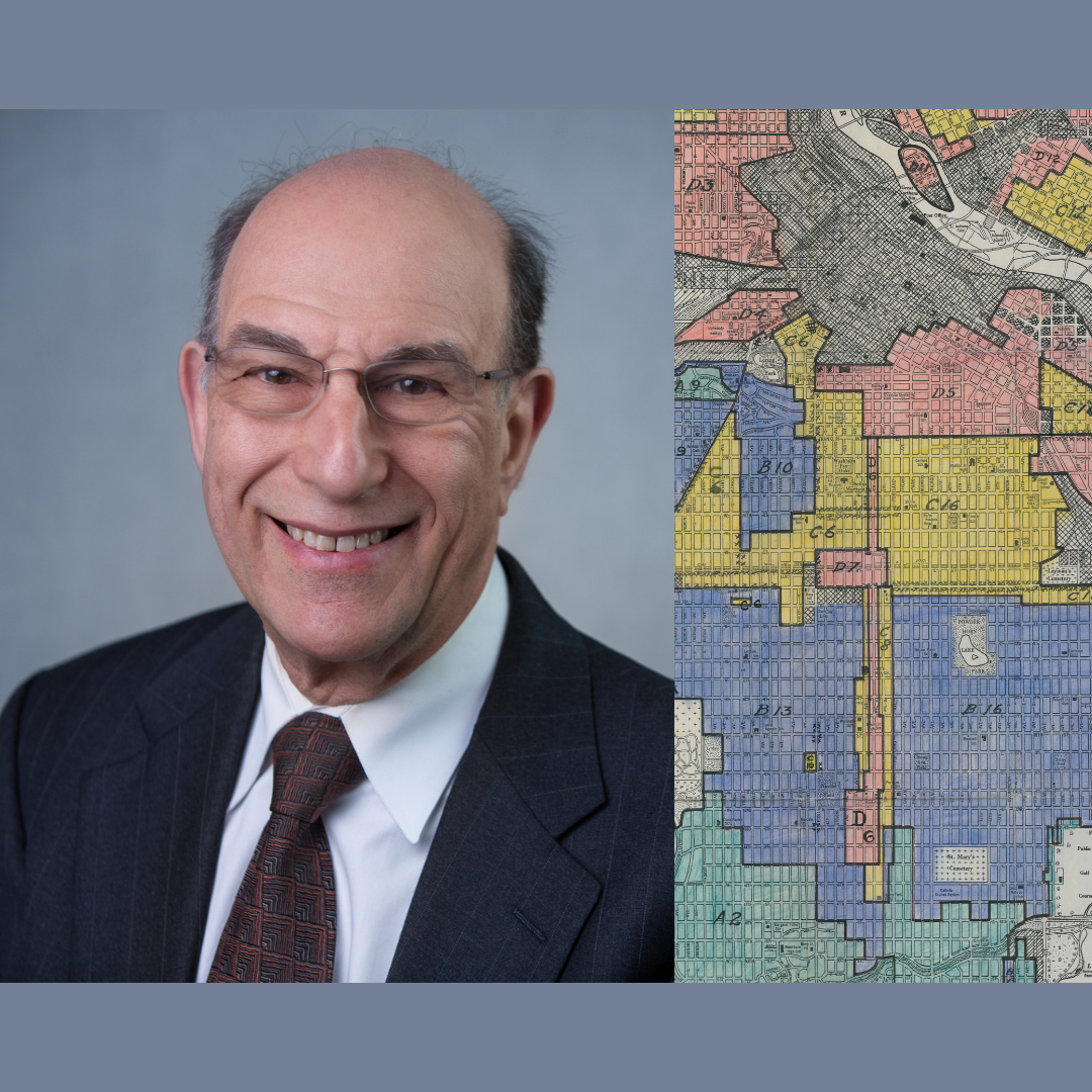 Richard Rothstein with HOLC redlining map of Minneapolis