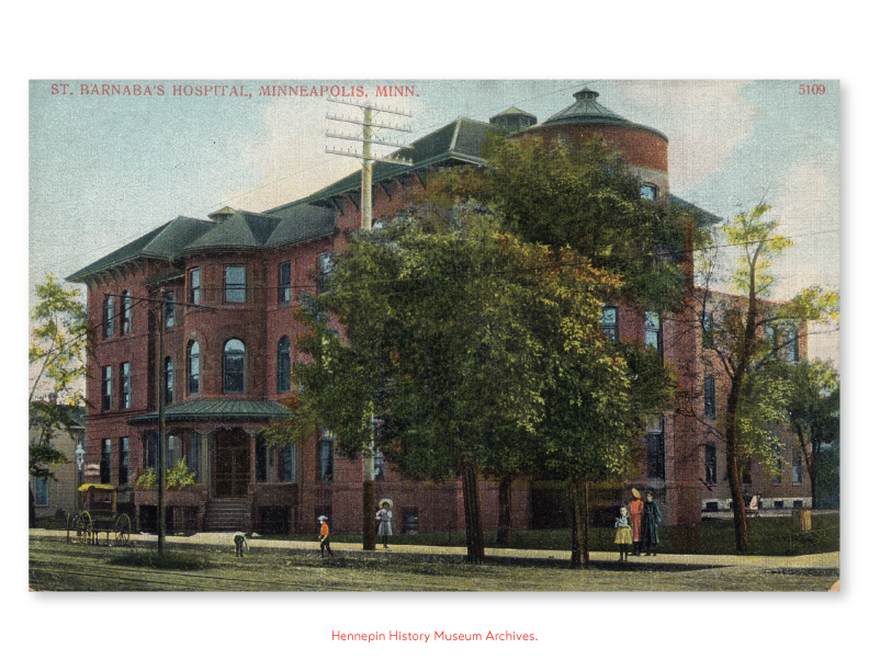 Postcard St. Barnabas Hospital