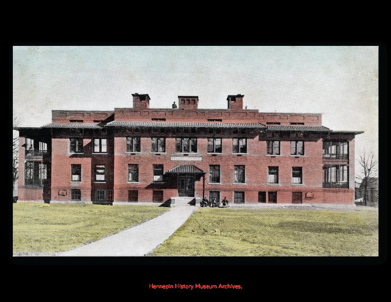 Postcard of Thomas Hospital.