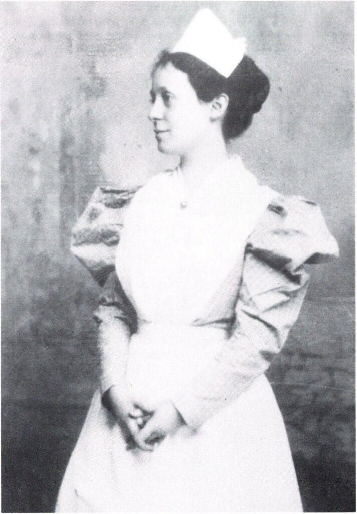 Louis Powell as a young nurse