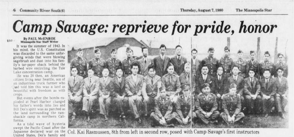 Newspaper clipping of group photo