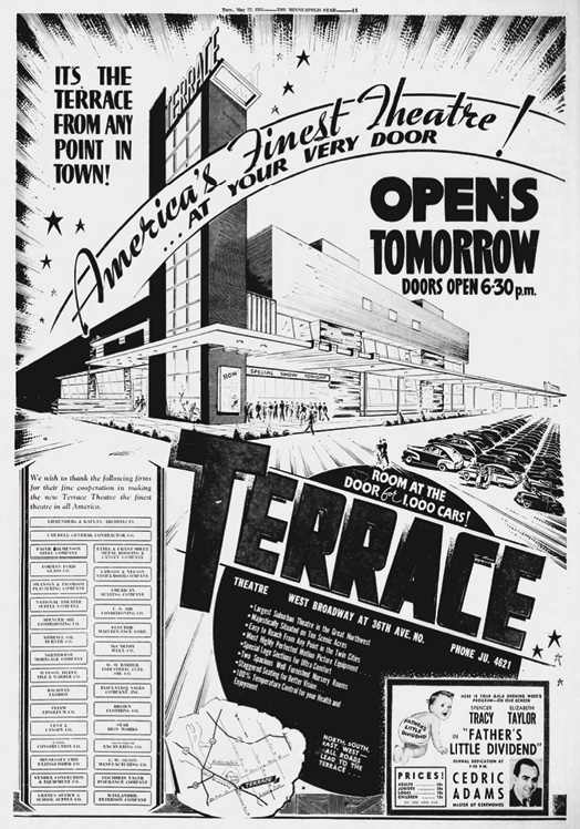 newspaper ad of Terrace Theater